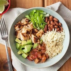 Skip the take-out line tonight, we've got you covered. These Chipotle Chicken Quinoa Burrito Bowls are easy, delicious and the leftovers make an amazing lunch.