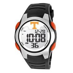 Game Time Men's COL-TRC-TEN Univ of Tennessee Watch Game Time. $49.95. High quality synthetic leather polyurethane construction all purpose strap with solid stainless steel buckle closure with keeper,. Tough, durable, impact resistant polycarbonate case construction and pushers,. Solid 5-feature liquid crystal display (lcd) digital movement with easy set function-time (hour, minute, second), calendar (month, date, year), 1/100 chronograph stop watch, dual alarm, el ba...