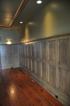 Wood Wall Paneling, this would look so good with concrete floors