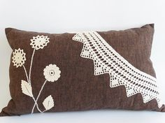 Decorative Pillowcase Linen 20X12 Throw Pillow Cover by PersaBags