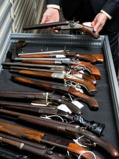 How do the cops trace a gun? They call the ATF's National Tracing Center, where computers are illegal and detective work is absurdly antiquated. Weapons Guns, Guns And Ammo, Hunting Shop, Gq, Survival Rifle, Federal Bureau, Double Barrel, Hunting Rifles, Firearms