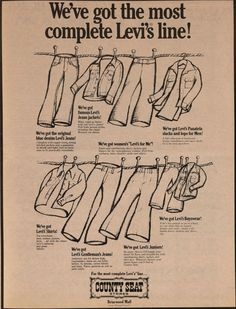 Levi's ad from County Seat stores.