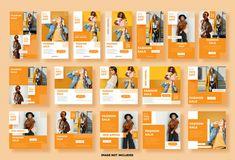 Set instagram stories, social media post... | Premium Vector #Freepik #vector #background #frame #business #sale Instagram Story, Instagram Posts, Instagram Post Template, Banner Template, Fashion Sale, Stores, Flyer Design, Social Media, Templates