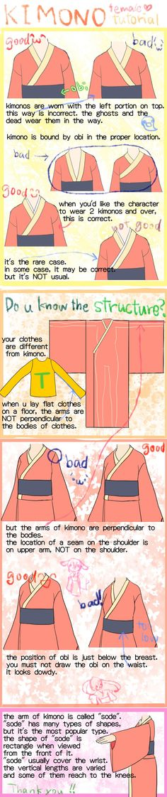 how to draw proper kimono by saTen0w0 on DeviantArt #DrawingAnimeCharacters