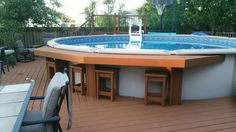 Pool Bar love this!  With extra seating added