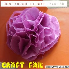 How To Create a Honeycomb & How to avoid Craft Fail 5 Minute Crafts Videos, Craft Videos, Handmade Greetings, Greeting Cards Handmade, Flower Making Crafts, Crepe Paper Crafts, Crepe Paper Flowers Tutorial, Honeycomb Paper, Paper Balls