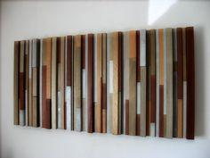 Modern Wood Headboard Art Sculpture 36x76 - Made To Order. $1,100.00, via Etsy.