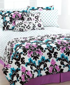 Lisette 8 Piece Twin Reversible Comforter Set - Dorm Bedding - Bed & Bath - Macy's