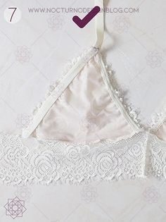 - Chew Tutorial and Ideas Design Blog, Sewing Lingerie, Lingerie Set, Bustiers, Sewing Hacks, Sewing Crafts, Diy Bralette, Diy Clothes, Sewing Patterns