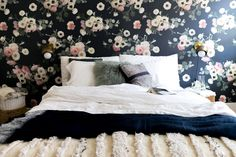 awesome floral wallpaper - Monica Wang's Los Angeles Home