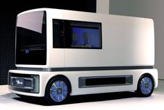http://chicerman.com  carsthatnevermadeit:  Daihatsu FC ShowCase 2011. A concept van with an advanced fuel cell powertrain and seating for foura giant gull-wing door lights on the wheels an LED panel on the left skirt cameras instead of mirrors and a 60-inch TV. The idea being that it could be turned into an outdoor theatre when not being driven  #cars