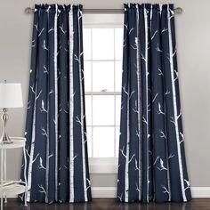 Mendon Floral Room Darkening Thermal Rod Pocket Curtain Panels & Reviews | AllModern