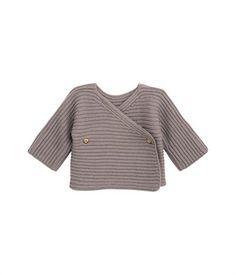 Pull bebè lana e cotone senza cuciture
