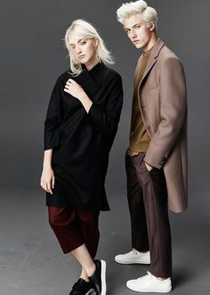 Daisy Clementine & Lucky Blue for Simons Fashion Editorial Couple, Fashion Couple, Blonde Couple, Pyper America Smith, Blonde Hair Boy, Sibling Photography, Fashion Photography, Lucky Blue Smith, Stylish Couple