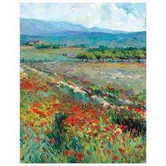 View Of Provence Canvas Wall Art ($52) ❤ liked on Polyvore featuring home, home decor, wall art, multicolor, colorful canvas wall art, canvas wall art, canvas home decor, french country wall art and french country home decor