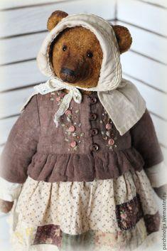 Купить Аксинья - коричневый, мишка, мишка тедди, мишка ручной работы, тедди, тедди медведи