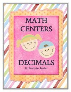 Math Centers Decimals - CCSS