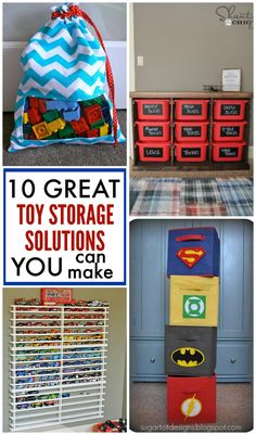 10 GREAT toy storage solutions you can make yourself to keep those toys picked up!