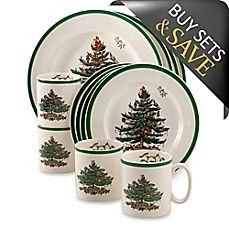 image of Spode® Christmas Tree 12-Piece Dinnerware Set