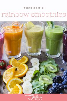 Rainbow Smoothies, Yummy Smoothies, Breakfast Smoothies, Superfood Recipes, Snack Recipes, Healthy Recipes, Sticky Date Pudding, Muesli Bars, Frozen Cocktails
