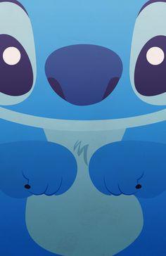 Imagen de stitch, wallpaper, and blue