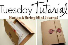 Another journal....  I love handmade books!