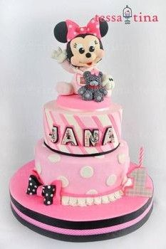 1st Birthday Cake Ideas for Girls Minnie mouse