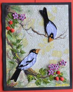 Birds paper quilling