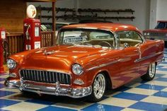 Chevrolet – One Stop Classic Car News & Tips Chevrolet Bel Air, 1955 Chevrolet, American Muscle Cars, Vintage Cars, Antique Cars, Retro Cars, Chevy Muscle Cars, 1955 Chevy, Classy Cars