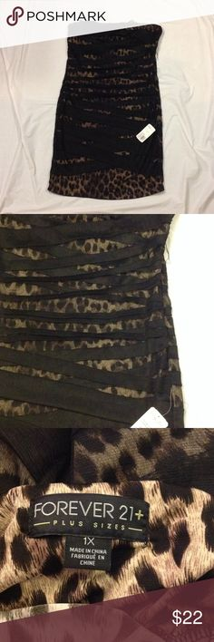 Sexy Leopard Rouched Dress Nwt forever 21 dress. Please see picture 2-- there are some areas that have a wild string. However, I have never worn this- it's just the natural deterioration of the dress. Been hanging in my closet since I bought it. Please ask questions and view pics Forever 21 Dresses