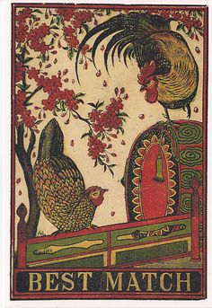 Vintage #Matchbox Label- Made In Japan. 1915. To design and order your logo's advertising #matches GoTo: www.GetMatches.com or Call 800.605.7331 Today!