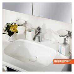 Lavoarul Prestige este fabricat din compozit (polirășină cu aspect de marmură), un material rezistent la deteriorări și murdărie. Acesta este produs dintr-un amestec de materiale sub formă de praf și rășini polimerice și se caracterizează printr-o rezistență mare la abraziune, lovituri, pătare și acțiunea substanțelor chimice. #mobexpert #mobilier #baie Sink, Home Decor, Sink Tops, Vessel Sink, Decoration Home, Room Decor, Vanity Basin, Sinks, Countertop