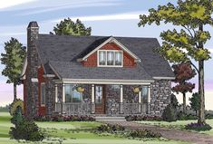 Cottage, Country, Craftsman, Farmhouse House Plan 79503 with 3 Beds, 3 Baths Elevation Bungalow Floor Plans, Cottage Floor Plans, Lake House Plans, House Plans And More, Country House Plans, Small House Plans, House Floor Plans, Cabin Plans, Craftsman Farmhouse