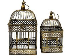 Birdcage Wedding Card Box Holder Set / Wishes / by SophieAtelier,