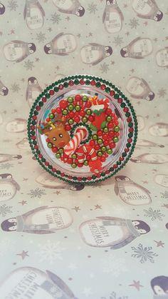 Customised Christmas reindeer flashing cup