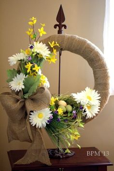 Spring wreath with Daisies.