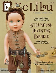 Steampunk Inventor Bundlefor 18 Inch Journey Girls Dolls - PDF