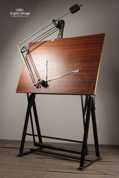 Old Architect Drawing Board with Planimeter Wood Drafting Table, Industrial Drafting Tables, Drafting Desk, Drafting Tools, Architect Logo, Architect Drawing, Architect House, House Drawing, Drawing Board