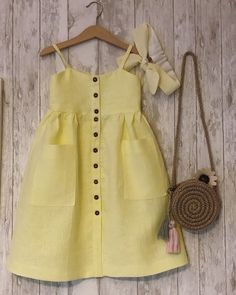 Best 12 The Abigail pinafore – SkillOfKing. Baby Girl Fashion, Toddler Fashion, Kids Fashion, Toddler Dress, Toddler Outfits, Kids Outfits, Baby Dress Design, Frock Design, Baby Clothes Patterns