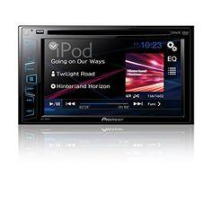 "PIONEER AVH-180DVD 6.2"" DVD Receiver Touchscreen. PIONEER AVH-180DVD 6.2in Double-DIN In-Dash DVD Receiver."