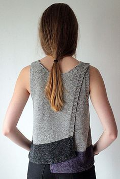 Maja - Kiito Knitting Pattern by Marita Rolin - Ohh I love how interesting this top is!