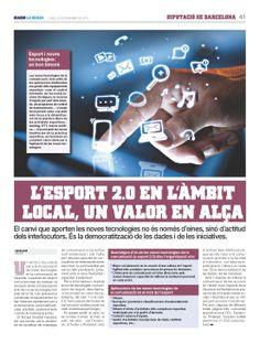 L'Esport 2.0 en l'àmbit local, un valor en alça