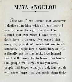Wisdom Quotes, True Quotes, Great Quotes, Quotes To Live By, Motivational Quotes, Inspirational Quotes, Qoutes, Maya Angelou Quotes, Worth Quotes