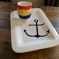 Hey, I found this really awesome Etsy listing at https://www.etsy.com/listing/264469407/anchor-blue-nautical-ceramic-pottery