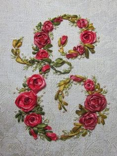 Elisabetta ricami a mano: Silk (!?!) ribbon embroidery #ribbonembroidery