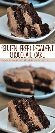 This gluten-free decadent chocolate cake with whipped chocolate frosting is unbelievably delicious. If Mel says it's delicious, it IS!