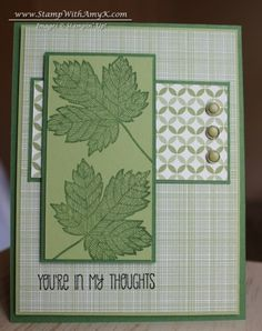 Magnificent Maple in Greens by amyk3868 - Cards and Paper Crafts at Splitcoaststampers