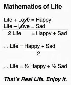 So if you have no life then you are not sad, nor happy, IBmuch?