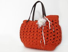 orange summer bag Handbag Celebrity Style With by Sudrishta, $55.00