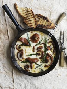 Mushroom Frittata  - photographer Chris Court